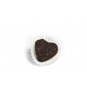 Corazones de Trufa de Chocolate Negro.