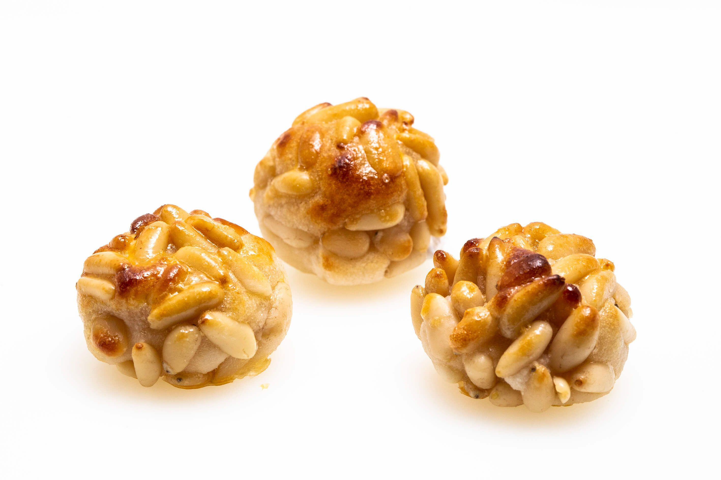 delicious marzipan with pine nuts